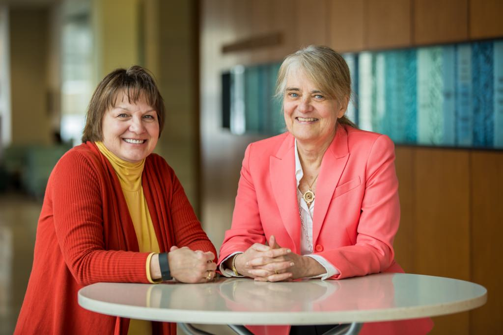 Barbara King, left, and Barbara Bowers, right both have been honored for by the Midwest Nursing Research Society.