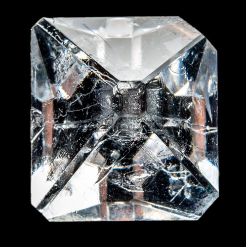 Photo: Clear, square crystal