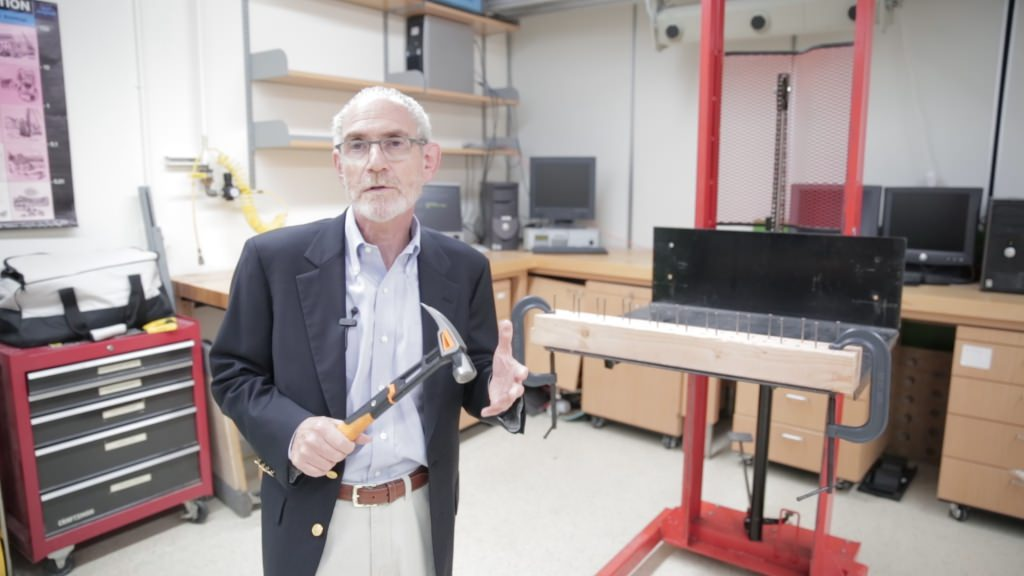 At the behest of production engineers at Fiskars, UW–Madison professor of industrial and systems engineering Robert Radwin applied his lab's expertise in ergonomics to evaluate the company's new IsoCore hammer.