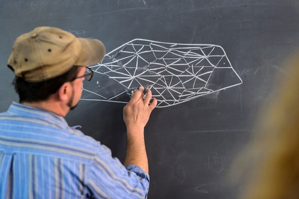 Photo: Krsko drawing on chalkboard