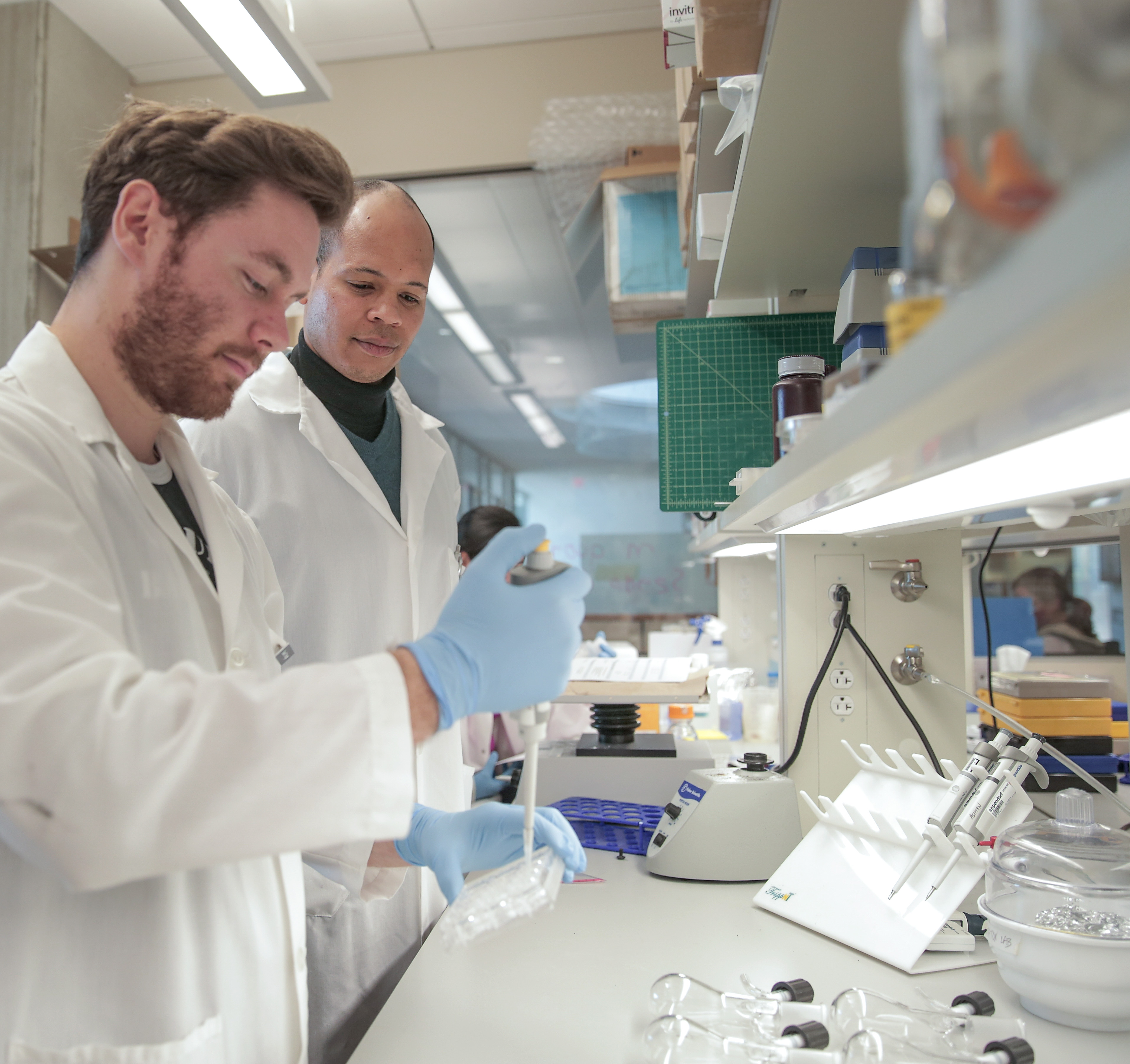 Photo of researcher Randolph Ashton and graduate student Gavin Knight