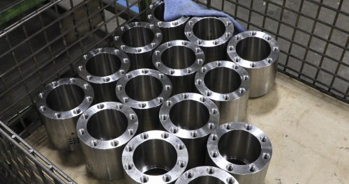 Rod bearings at the JARP factory in Wausau, used to make hydraulic cylinders.