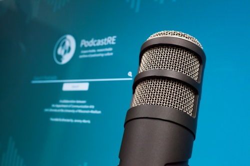Photo: Closeup of microphone