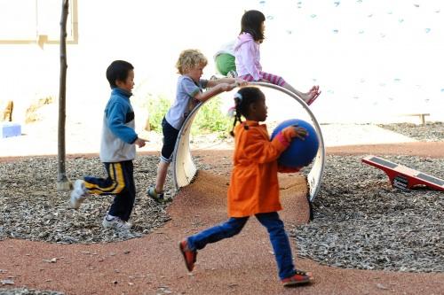 Photo: Children on playground