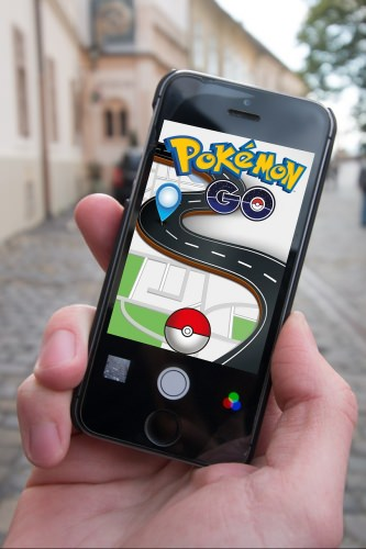 Photo: Cellphone showing Pokemon GO