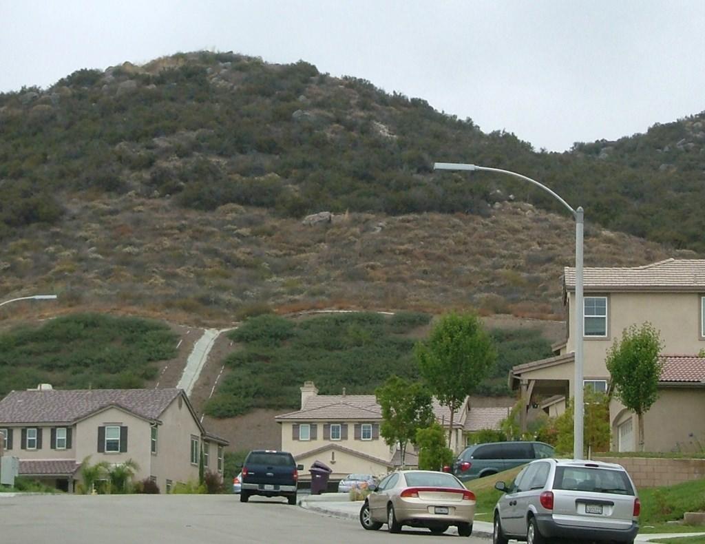 Photo: Houses near hillside conservation easement