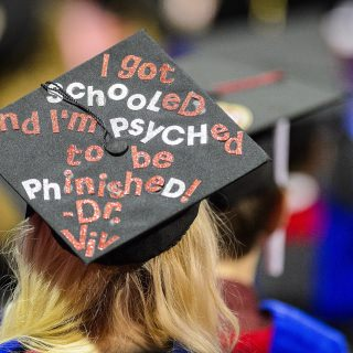Mortarboards are a blank slate for graduates to show their pride and creativity.
