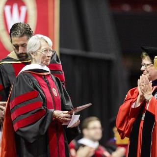 Educator and philanthropist Tashia Morgridge receives an honorary degree.