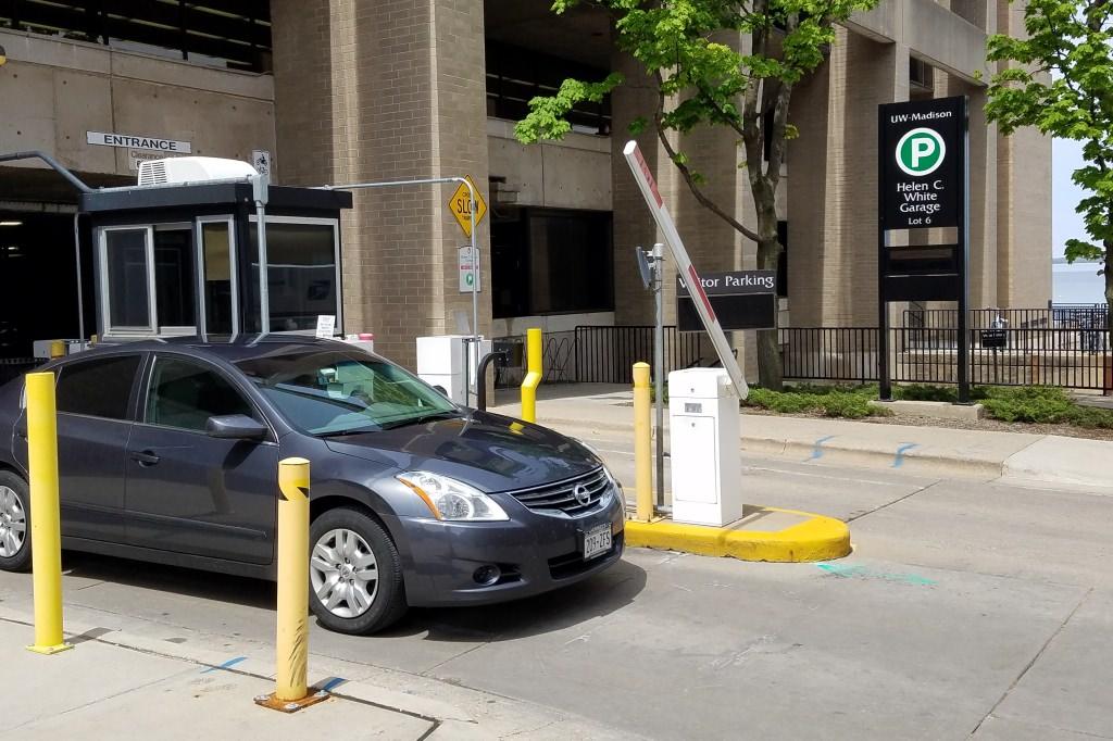 Photo: Helen C. White parking garage exit