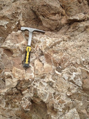 Photo: Slab of rock from Loma Blanca fault