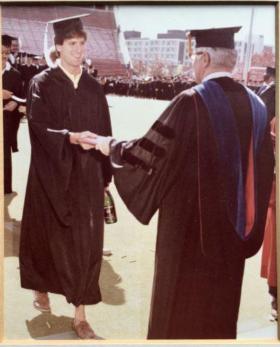 Steven Levitan at his UW–Madison graduation in 1984. (Photo courtesy Steven Levitan)