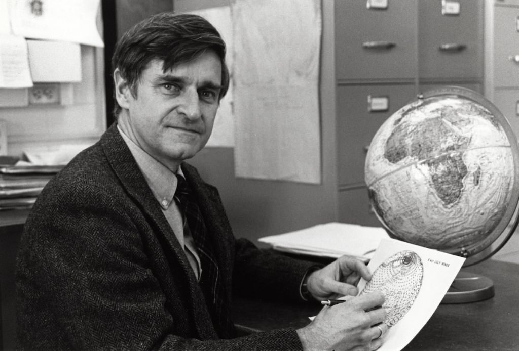 John Kutzbach, UW–Madison professor emeritus of atmospheric, oceanic and environmental sciences, is the former director of the Nelson Institute for Environmental Science Center for Climatic Research. This was taken in 1992.