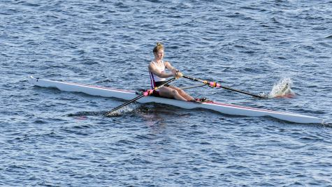 Photo: Maddie Wanamaker in scull