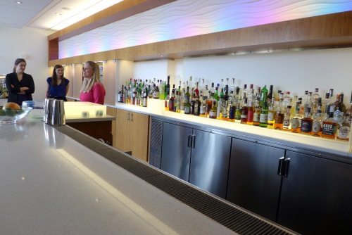 With a big business in flavoring drinks, Kerry maintains this bar as a tasting room. All tastings are finished before noon, says Alisha Barton, the company's specialist in acquiring university talent, as the employees will be driving home after work.