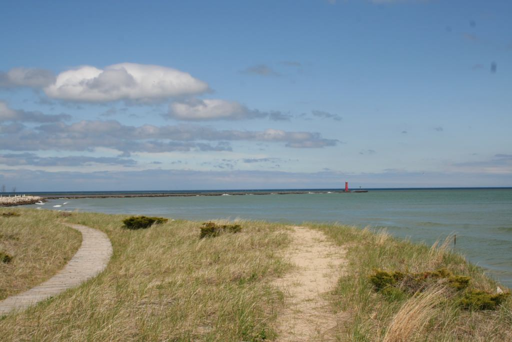 Photo: Lake Michigan as seen from Sheboygan shore