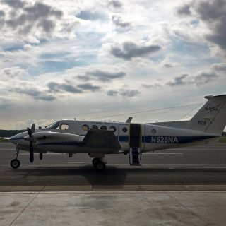 NASA aircraft equipped with remote sensing instruments used to collect atmospheric data from Zion, Illinois, to Sheboygan.