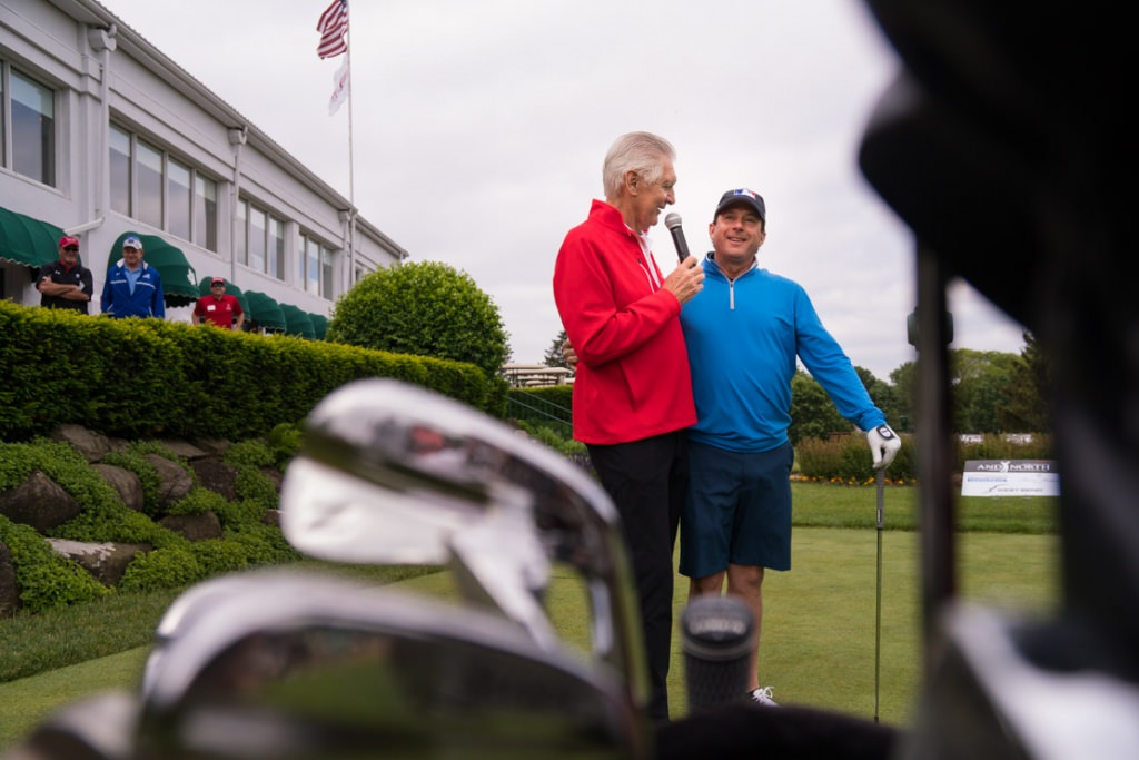 Andy North with fellow pro golfer Billy Andrade.