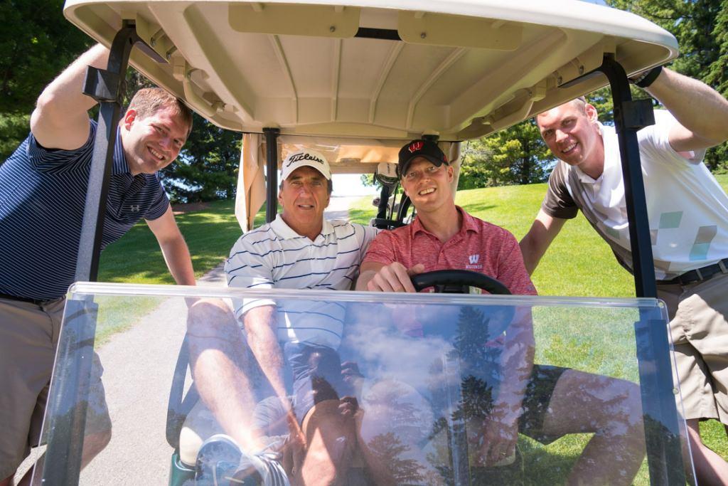 From left to right are Lou Krabbenhoft, Mike Begeman, Joe Krabbenhoft, and Greg Stiemsma.