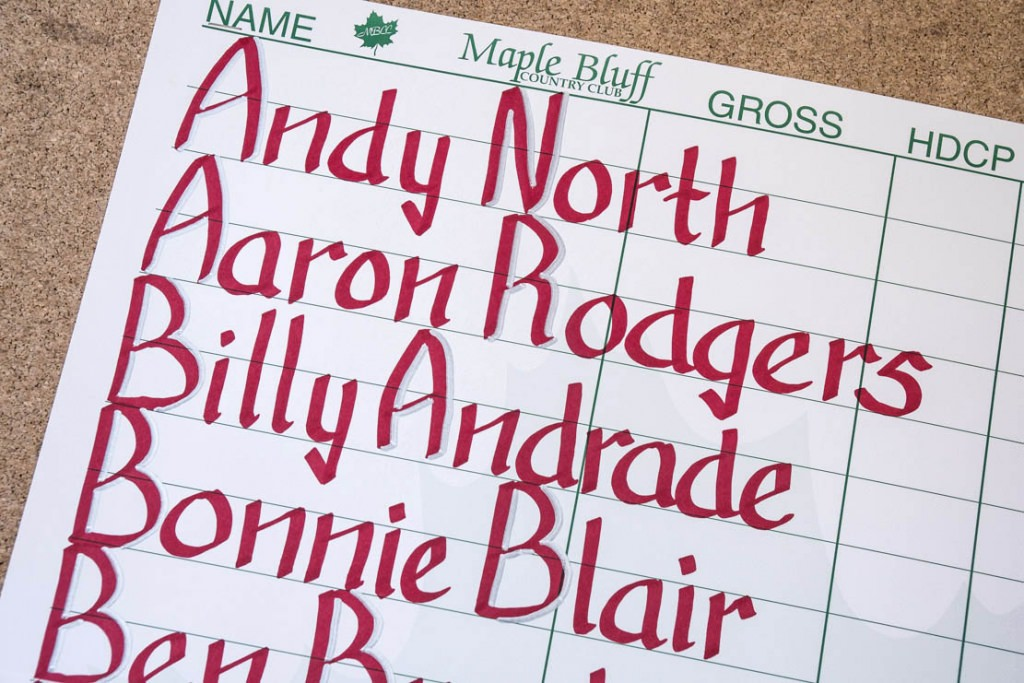 The scorecard had some big names.