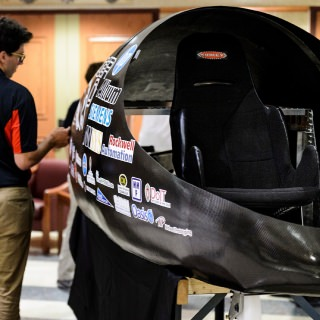 The BadgerLoop Pod II is made to transport within a hyperloop, moving in a low-pressure tube at hundreds of miles per hour. The sole criteria for this year's competition is speed.