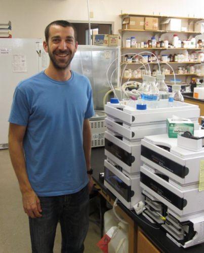 Photo: Craig Schenck in lab