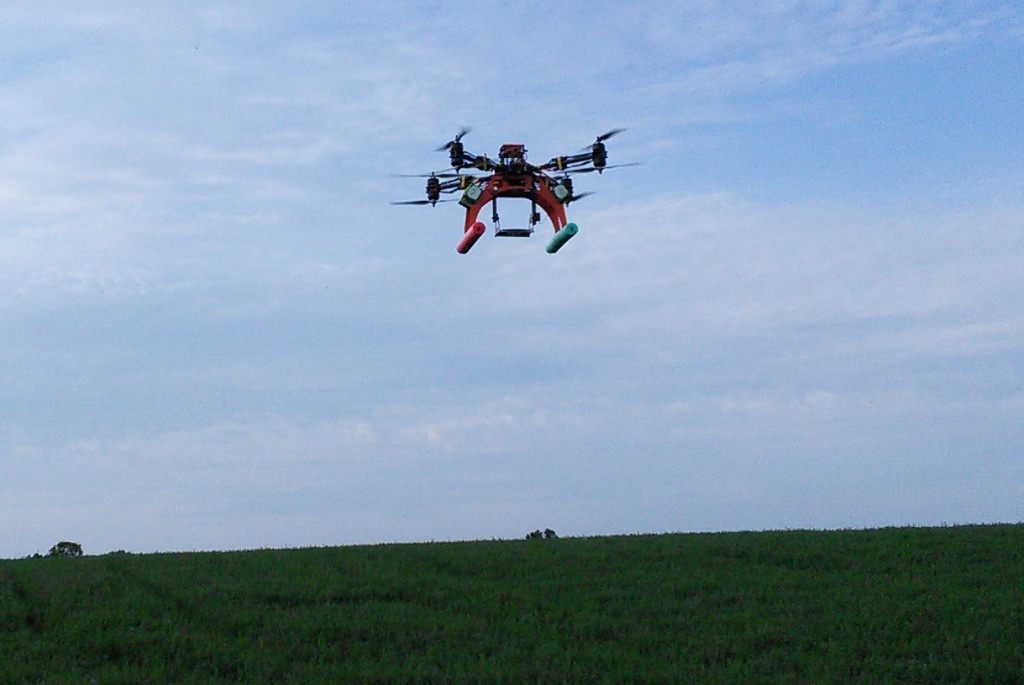 Photo: Drone flying over farm field