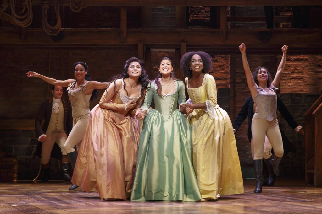 "Photo: ""Hamilton"" actresses Karen Olivo, Ari Afsar, Samantha Marie Ware"