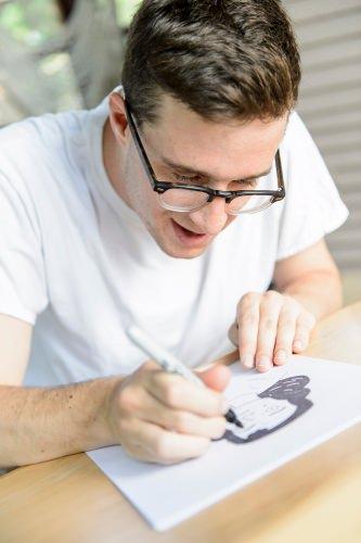 Photo: Ben Nadler drawing
