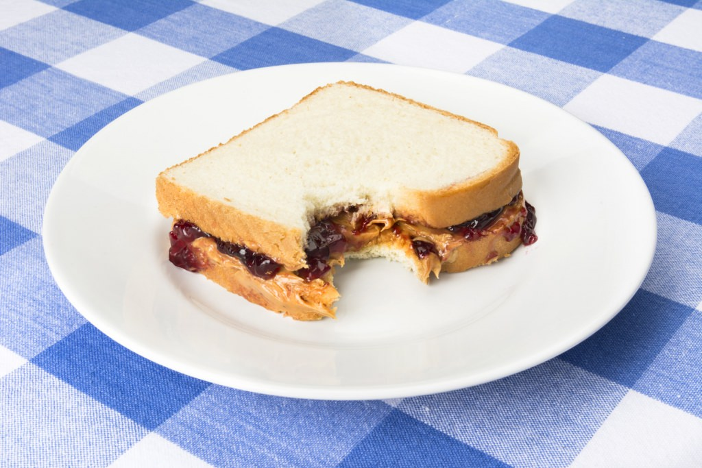 Photo: Peanut butter and jelly sandwich