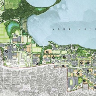 Major building opportunities as envisioned in the Campus Master Plan.