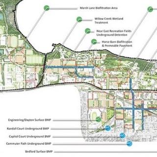 Green infrastructure/stormwater management opportunities.