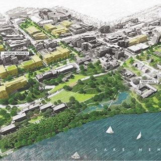 Proposed Observatory Hill development opportunities (view to south).