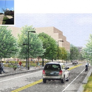 Proposed West Dayton Street and new South Campus Quadrangle.