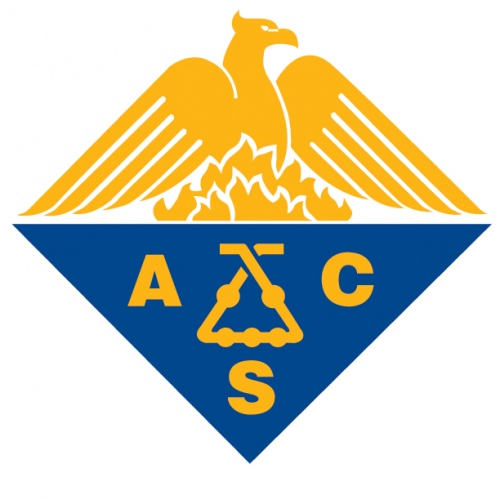 Photo: Logo of American Chemical Society with kaliapparat in center