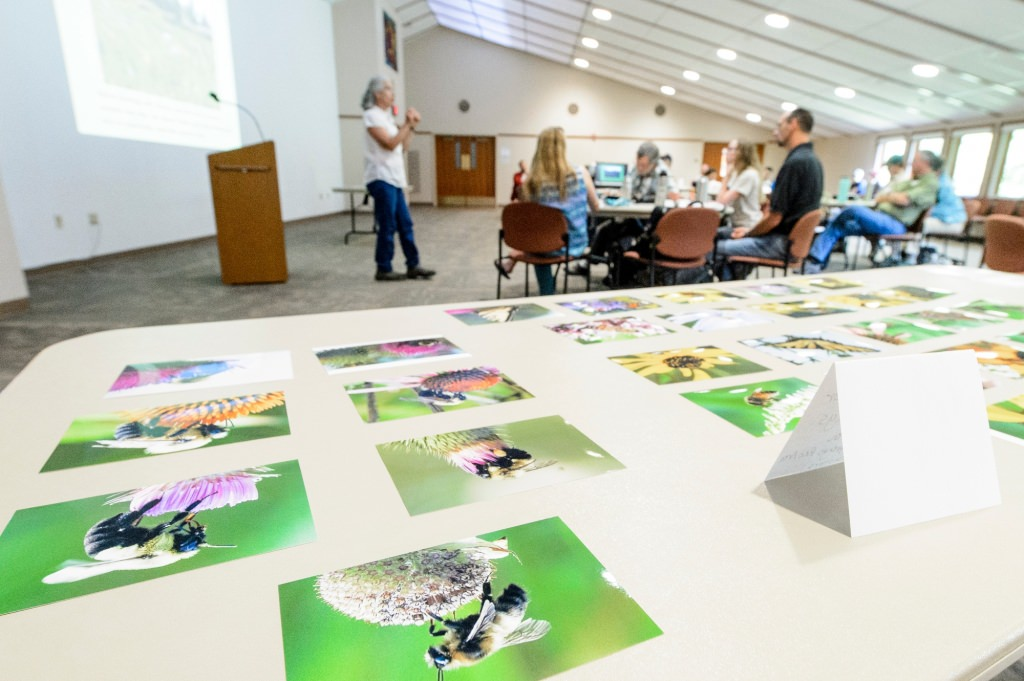 Photo: Susan Carpenter leading workshop indoors