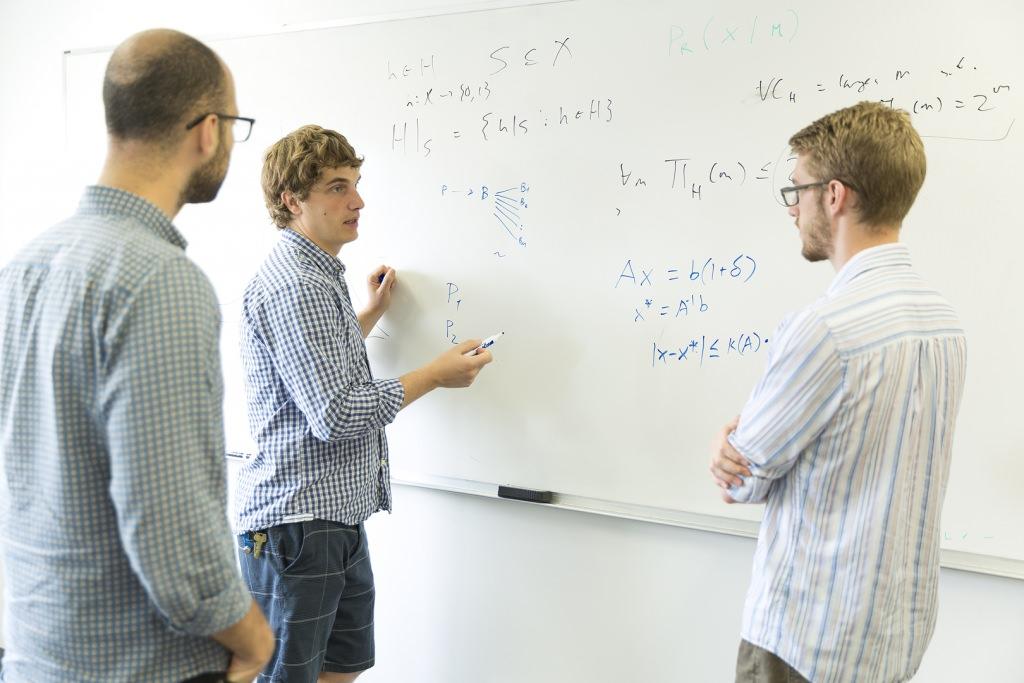 Photo: Aws Albarghouthi, Loris D'Antoni, David Merrell at white board