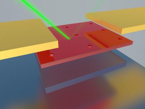 Photo: Illustration of thin photodetector