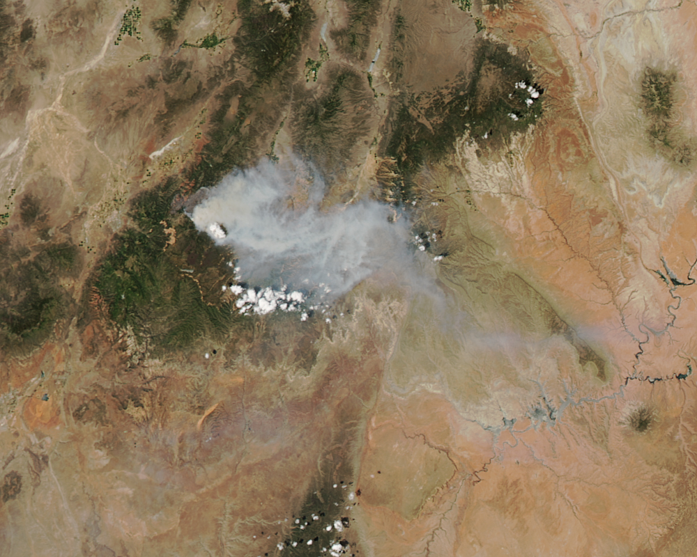 Photo: Satellite view of fires in Utah