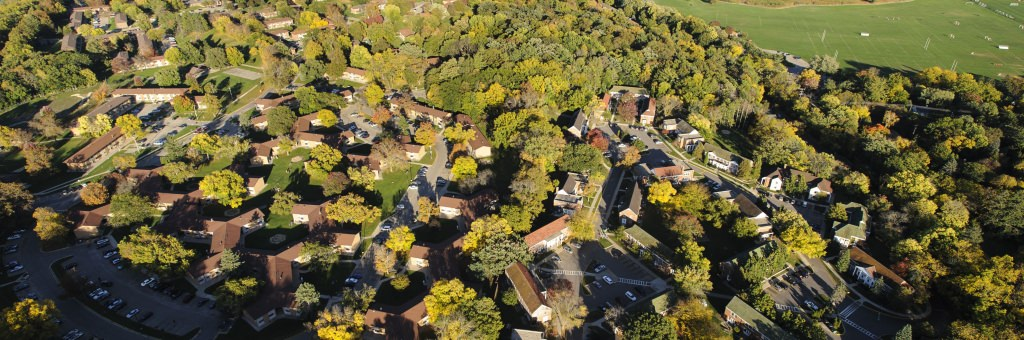 Photo: Aerial view of University Apartments