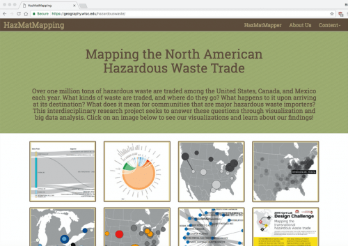 Graphic: Screen shot of HazMatMapping website