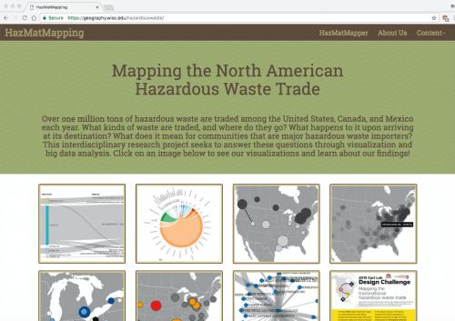Graphic: Screen shot of HazMatMapping website