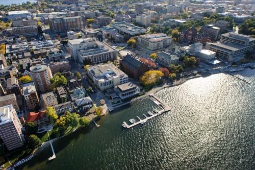 Photo: Aerial view of UW campus