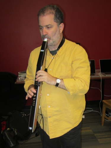 Photo: Daniel Grabois playing an eigenharp