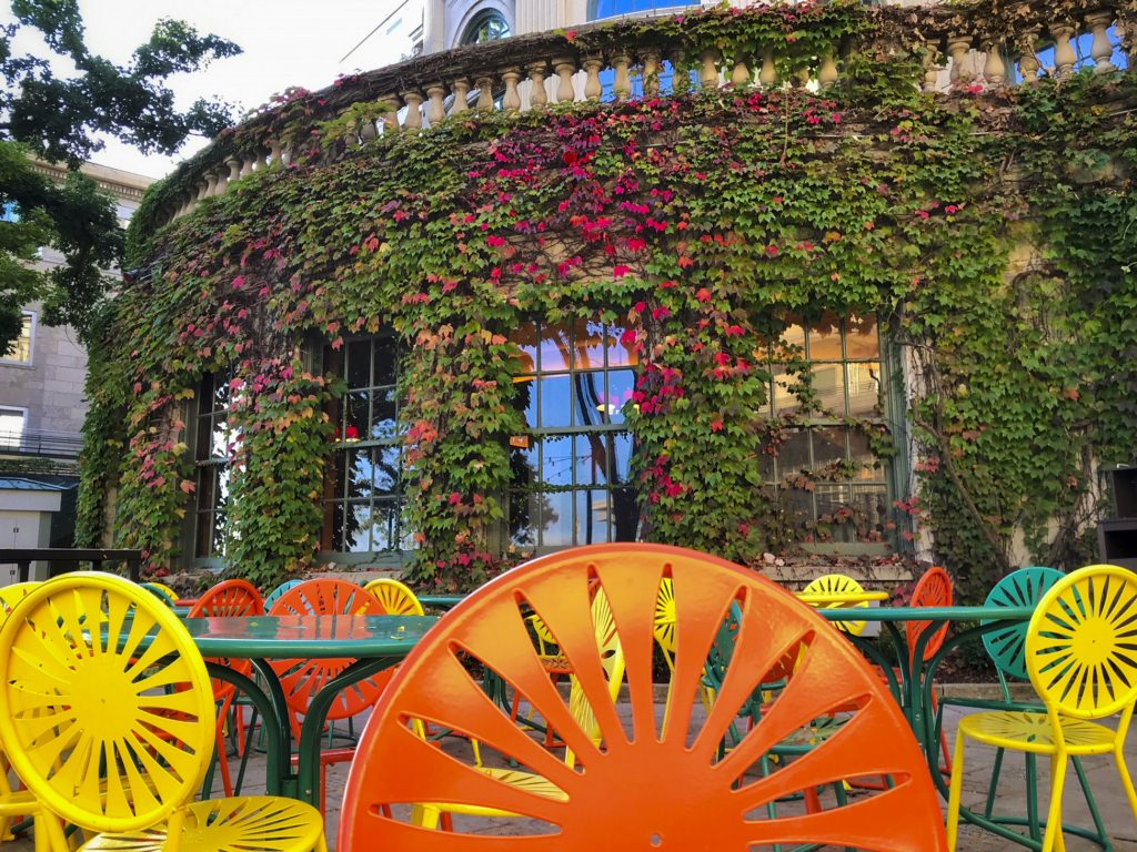 The heat index may disagree, but colors on the Terrace tell us it's the first day of fall.