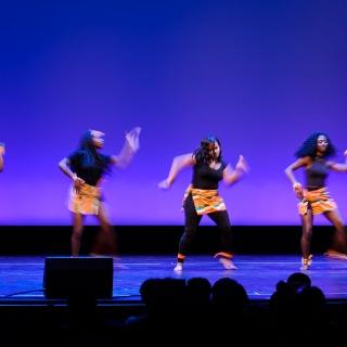 Members of Rootz, UW-Madison's Afro-Caribbean Dance Team.