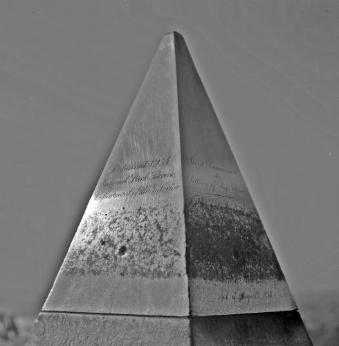 Photo: Aluminum apex of Washington Monument