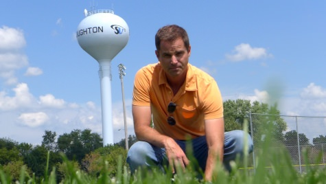 Doug Soldat, professor of soil science at University of Wisconsin-Madison, has lead a three-year experiment in Stoughton, Wisconsin, on the effects of four ways to care for sports fields.