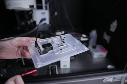 Photo: Device for imaging collagen samples