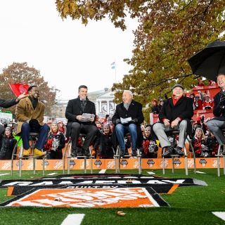 This marks the second year in a row that the GameDay commentators have visited UW–Madison.