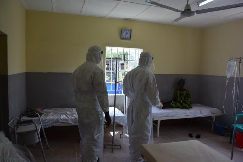 Photo: Health workers in safety suits